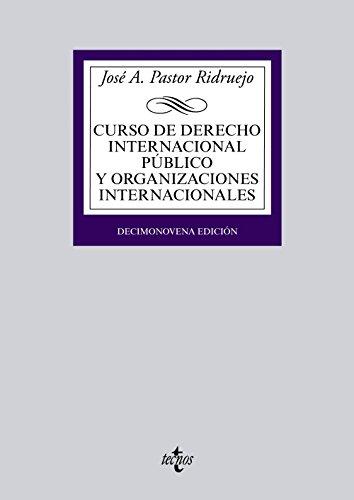 Descargar Libro Curso De Derecho Internacional Público Y Organizaciones Internacionales José  Antonio Pastor Ridruejo