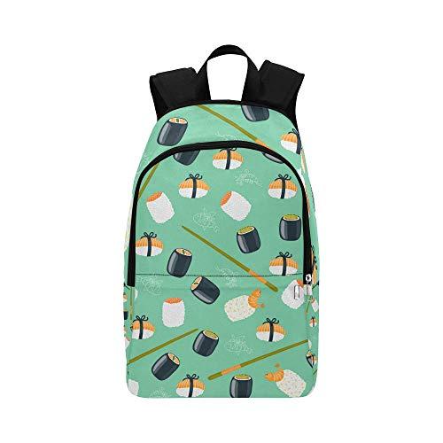 Oriental Style Sushi Custom Casual Backpack School Bag Travel Daypack for Girls Boys Kids ()