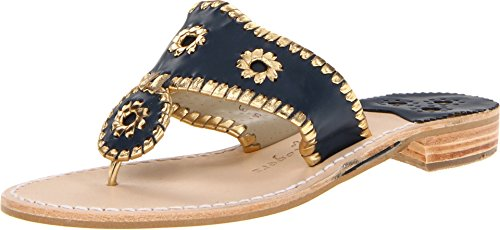 Jack Rogers Women's Nantucket Gold Sandal,Midnight/Gold,8 for sale  Delivered anywhere in USA