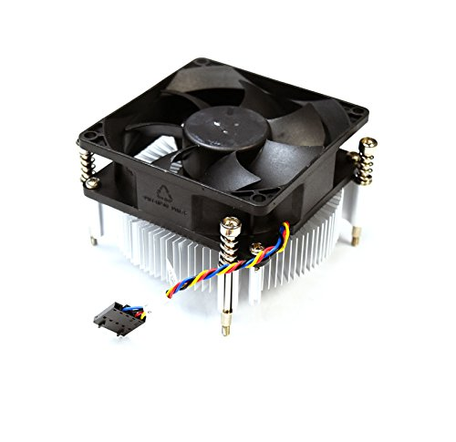Aquamoon Trading X3JDD Genuine OEM Dell OptiPlex 3020 7020 7010 MT Precision T1650 65W Processor CPU Cooling Heatsink Fan Assembly 3.5 Inch Black 5-pin Header 4-wire Cable Captive Screws 89R8J (Cpu Reviews Cooling Fan)