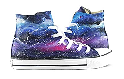 Galaxy Shoes Hand Painted Canvas Shoes Men Women Sneakers Fashion Shoes Free Shipping