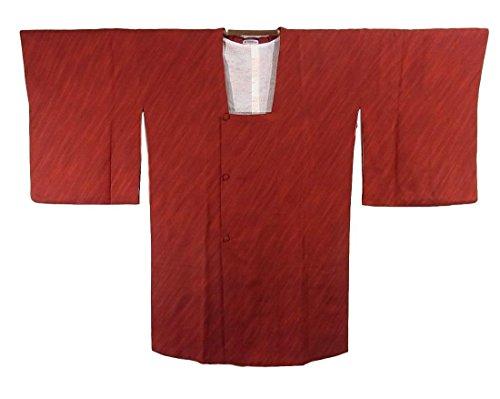 脆いクラウンペルソナリサイクル 道行コート 斜め縞模様 正絹 裄67cm 身丈95cm