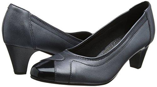 De Tacón navy Multicolour Mujer Pearl Multi Padders Zapatos Cerrada Punta Jewel Con wtf6TzEq6
