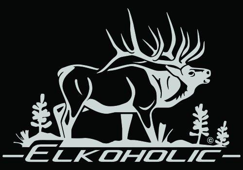 Elkoholic Elk Hunting Automotive Window Decal Elk Wall Decal High Quality Adhesive - Elk Decal Bugling
