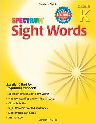 Spectrum Sight Words, Grade K: School Specialty Publishing ...
