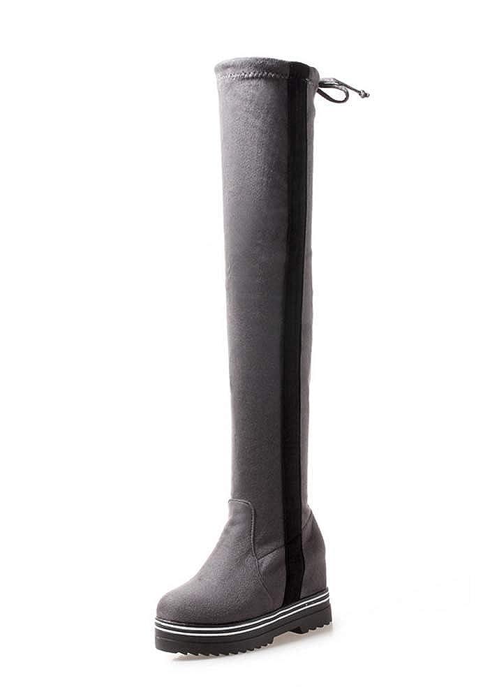 Damen Mode Over Over Over The Knee Stiefel 2018 Herbst Winter Britische Art Plattform Stiefel 26bc8a