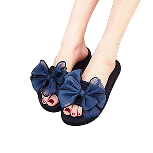 Zapatillas cómodas suaves del bowknot de la gasa de la manera de la mujer Rose Red