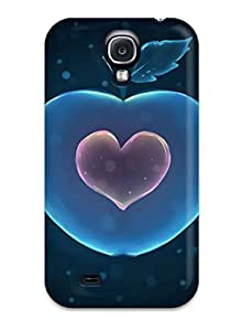 Protective Tpu Case With Fashion Design For Galaxy S4 (blue Apple Wsallpaper)