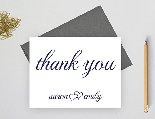 Personalized Wedding Thank You Cards, Personalized Wedding Gifts for Couple, Personalized Thank You Cards for wedding, Set of 10 folded note cards