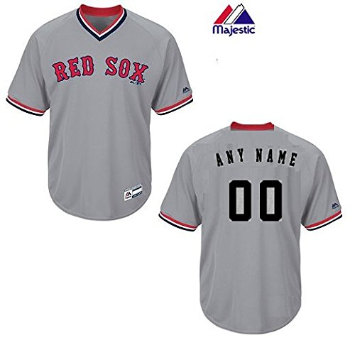 Adult 2XL Boston Red Sox CUSTOM (Any Name/# on Back) Major League Baseball Cool-Base V-Neck (Any Player Name Jersey)
