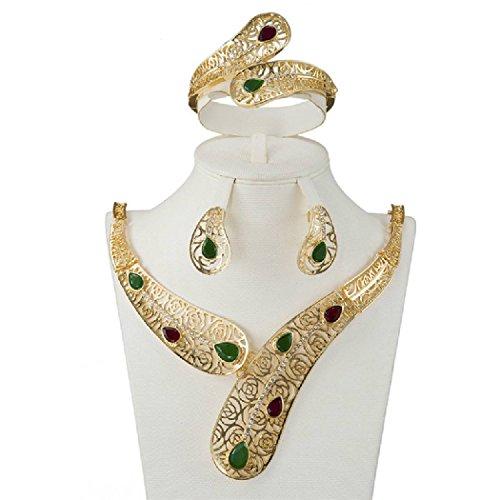 Bellystar Wedding Bride Pendant Necklace Earrings Three Pieces Of Nigeria Africa Pearl Jewelry Sets by Bellystar