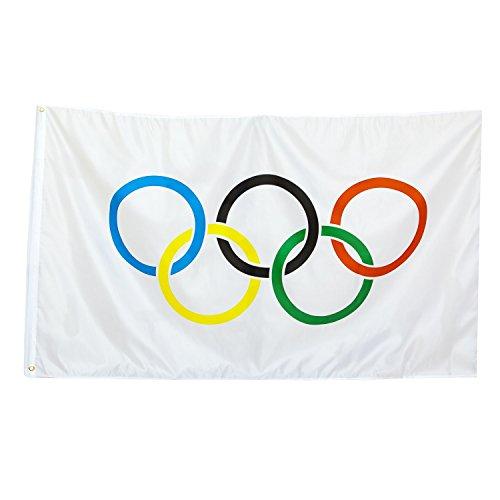 BRUBAKER Nylon Olympics Flag 3 Feet x 5 Feet ()