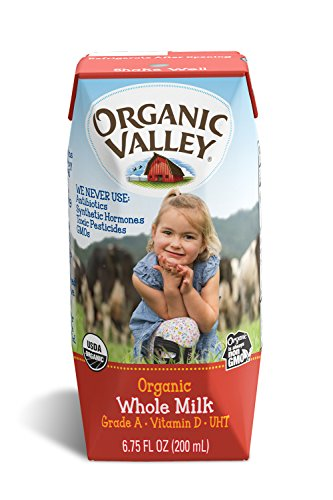 Large Product Image of Organic Valley, Organic Milk Boxes, Whole Milk, 6.75 Ounces (Pack of 12)