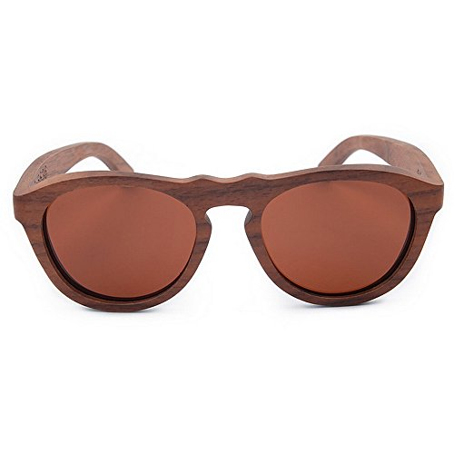 Uv De Hecho Nariz Ondulada Gafas Conducción Lente Puente Mujer Color Lentes Planos A Polarizado Playa Madera Protección Espejados Mano Sol Marrón Personalidad Uiophjkl Tac 7q1pw