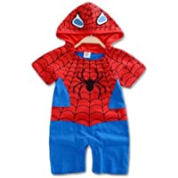 Baby Boy Spiderman Costume Outfit Ramper 3-18 Months