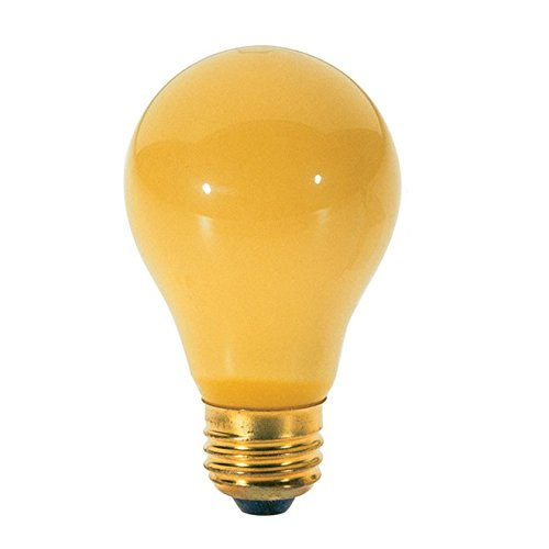 Satco S3859 40 Watt A19 Incandesent Yellow Bug Light Bulb
