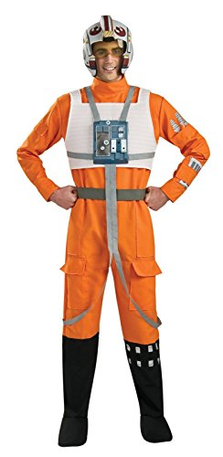 Rubie's Costume Star Wars A New Hope X-Wing Pilot, Orange, X-Large (Science Geek Halloween Costumes)