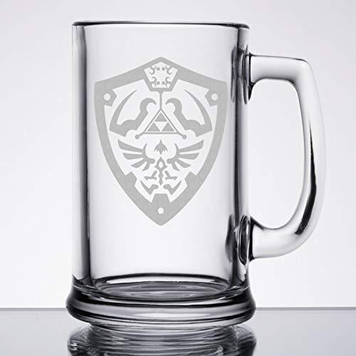 Etched Shield - The Legend of Zelda - Hylian Shield - Etched Beer Mug