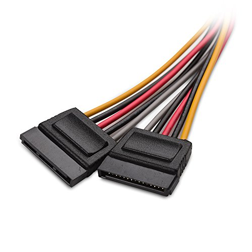Cable Matters 3-Pack 15 Pin SATA Power Splitter Cable 8 Inches
