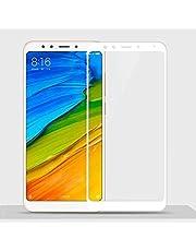 لاصقة حماية كاملة للشاشة نانو بالياف الزجاج قابلة للانثناء لصق كامل لهاتف شاومي ريدمي 5 بلس ابيض