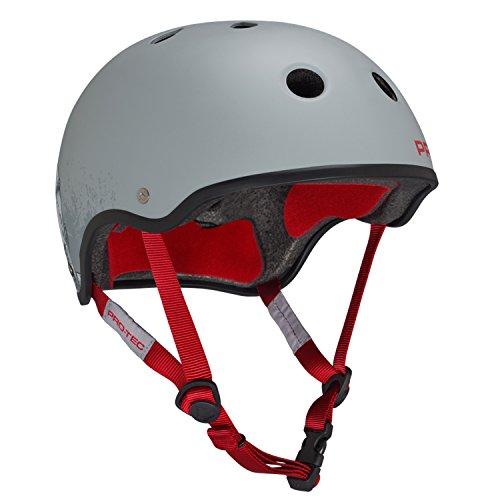 PRO-TEC Omar Hassan Classic Grey / Red Large Skateboard (Hassan Helmet)