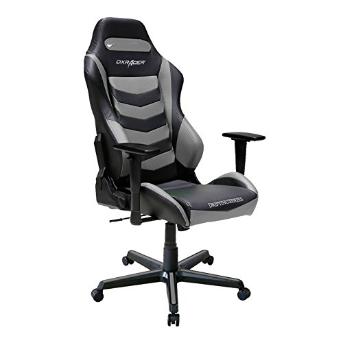 DXRacer DM166 Drifting Series Racing Bucket Seat Office Chair Gaming Ergonomic with Lumbar Support (Grey) DXRACER Featured