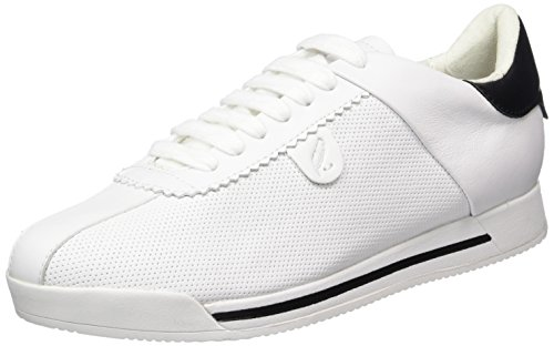 Geox D Chewa A Womens Leather Trainers/Shoes - White-9