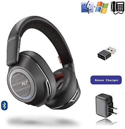 Amazon Com Plantronics Voyager 8200 Uc Stereo Bluetooth Headphones For Smartphones Tablets Pc Mac Apps Bluetooth Polycom Vvx 601 Obi2182 Usb Audio Dongle Charger Bonus Power Supply Home Audio Theater