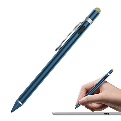 MoKo Universal Active Stylus Pen, Capacitive Fine Point Touch Screen Tablets Stylus Pencil Fit with Apple iPad, iPad Mini/Air/Pro, iPhone, Samsung Galaxy, Touchscreen Devices & Smartphones - Indigo