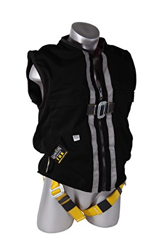 Guardian Fall Protection 02425 Black Duck Mesh Construction Tux Harness, Large