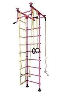 Sprossenwand Klettergerüst Turnwand Kindersportgerät FitTop M1 (Pink)