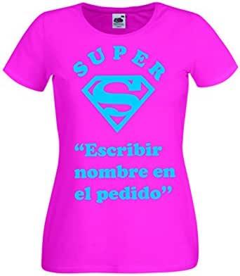 Camisetas divertidas Parent Super Nombre - para Mujer Camiseta: Amazon.es: Ropa y accesorios
