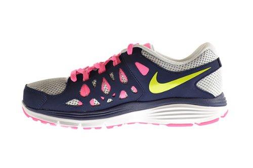 Amazon.com: Nike Dual Fusion Run 2 (GS) Big Kids Shoes Pure Platinum/Venom  Green-Mid Navy-Pink Grey 599793-006 (6.5 M US): Shoes