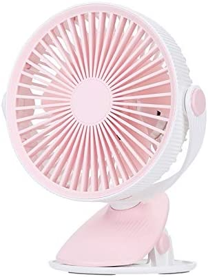 Color : Blue Pink Nobrand DingdingCat Electric Fan WT-F15 Clamp Dual-use 1200mAh 360 Degrees Rotation Mini Wireless USB Portable Fan with 3 Speed Control