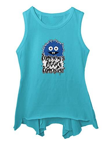 Mommy's Little Monster Toddler/Youth Sleeveless Backswing (Turquoise, 6T (Toddler))