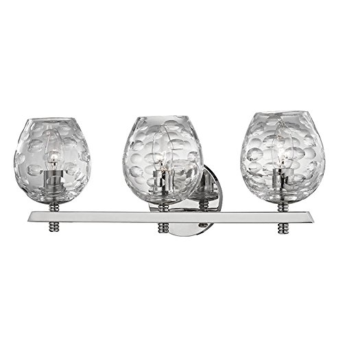 (Hudson Valley Lighting 1253-PN Three Light Bath Bracket from the Burns collection 3, Polished Nickel)