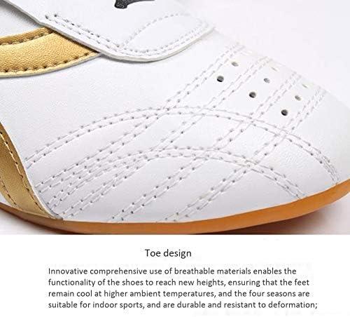 古典的なテコンドーの靴太極拳カンフー太極拳の靴トレーニングスポーツシューズラバーソールの男性と女性の子供white-37