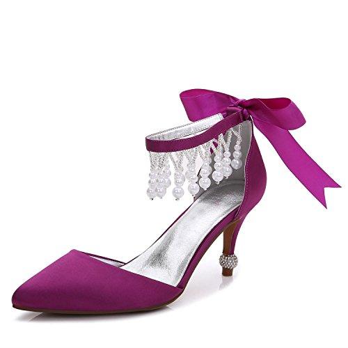 Talons Satin Hauts purple F17767 Fall Robe De Femmes à Pendentif Platform YC amp; De Des Chaussures 18 Spring Mariage SoiréE L wfgaPvnqA
