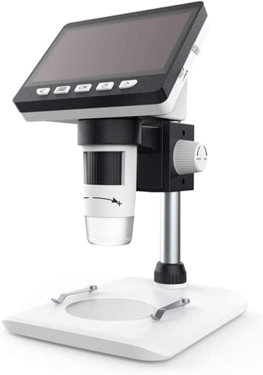LCD Digital Microscope 4.3 Inch 1080P Lab Edu 50X-1000X Magnification USB2.0 Magnifier with 8 Adjustable LED Light Handled Microscope Camera for Children