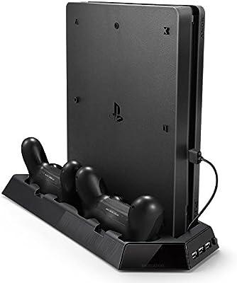 Soporte Vertical de PS4 Pro, Rixow Ventilación para Playstation 4 ...