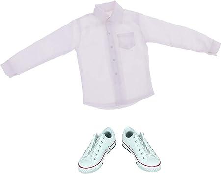 Amazon.es: Sharplace 1/6 Mini Camisa Blanca de Mangas Largas y Zapatos de Vestir Formales para Cuerpo de Figura de Acción 12: Juguetes y juegos