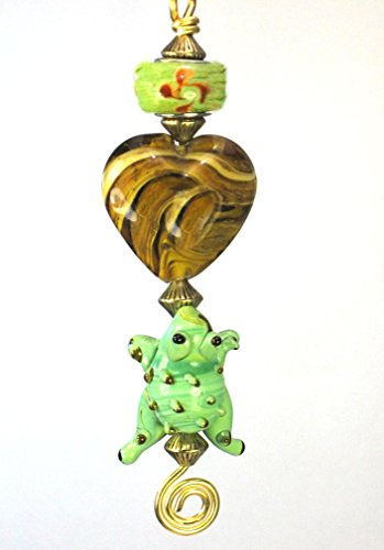 - Green Tree Frog with Swirl Heart Ceiling Fan Pull Chain /Light Pull