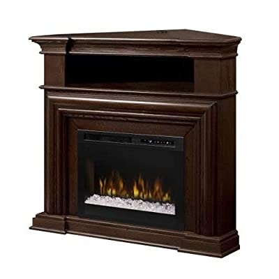 DIMPLEX Montgomery Media Console Electric Fireplace with Acrylic Ember Bed Espresso/1500