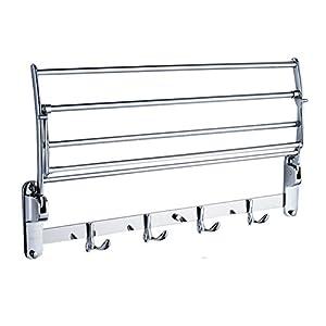 Candora Stainless Steel Wall Mounted Bathroom Towel Rack Brushed Towel Shelf Towel Holder Hotel Rail Shelf Storage…