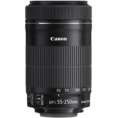 Canon EF-S 55-250mm f/4.0-5.6 IS STM Zoom Lens with 3 UV/CPL/ND8 Filters + Hood Kit for Rebel T3, T3i, T4i, T5, T5i, SL1, EOS 60D, 70D, 7D Digital SLR Cameras