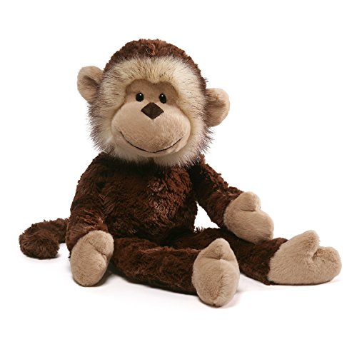 Plush 14 Monkey - GUND Alvin Monkey Take Along Stuffed Animal Plush, Brown, 14