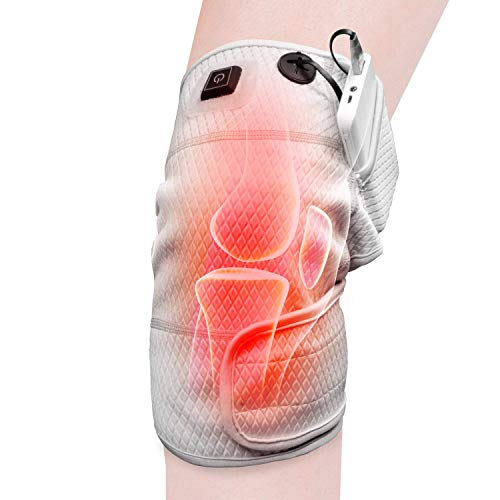 Knee Heating Pad Wrap Heated Knee Brace,Therapeutic Electric Heating Pad Arthritis Meniscus Pain Relief (3 Temperature Setting)