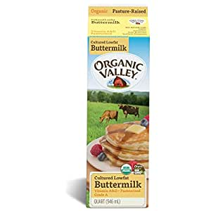 Organic Valley, Organic Low Fat Cultured Buttermilk, Pasteurized, Quart, 32 Ounces