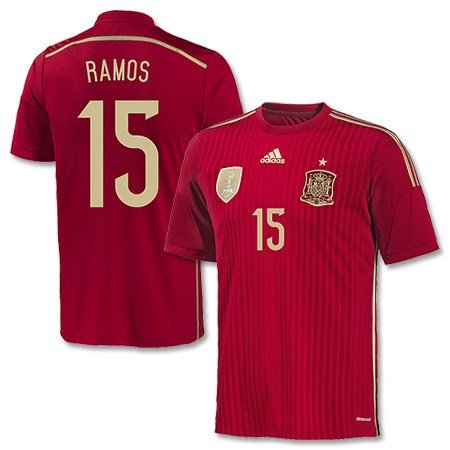 Spanien Home Trikot 2014 + Ramos 15 - S