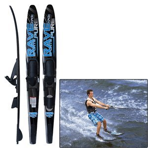 Rave Pure Combo Water Ski (Black/Blue)